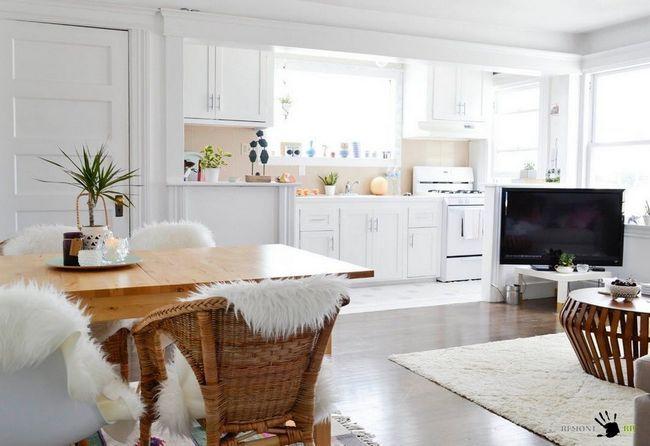 Фото - Свіже рішення для вітальні - білосніжний інтер'єр