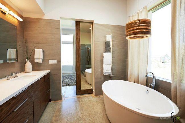 Фото - Ванна кімната з обробкою з каменю - королівський інтер'єр
