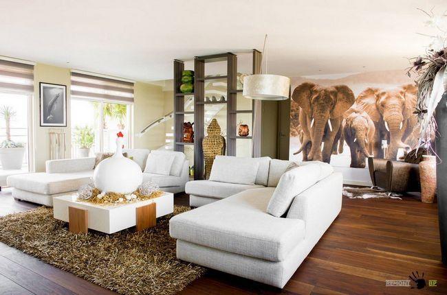 Контрастний дизайн спільної кімнати