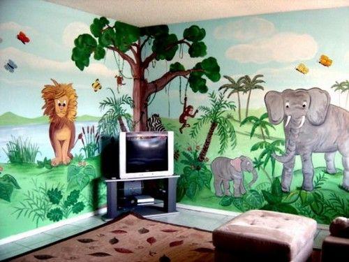 Африканські мотиви в декорі стін в дитячій