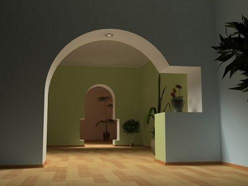 Фото - Арки з гіпсокартону: особливості виготовлення і матеріали для оздоблення