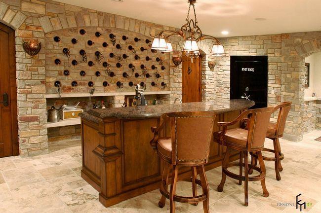 Камінь в інтерєрі кухні