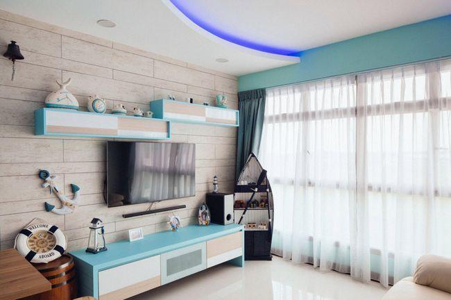Морська тематика в сучасній вітальні