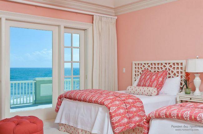 Пастельно-рожевий приглушений відтінок рожевого в інтерєрі