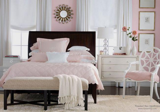 Фото - Романтика і чуттєвість рожевої спальні
