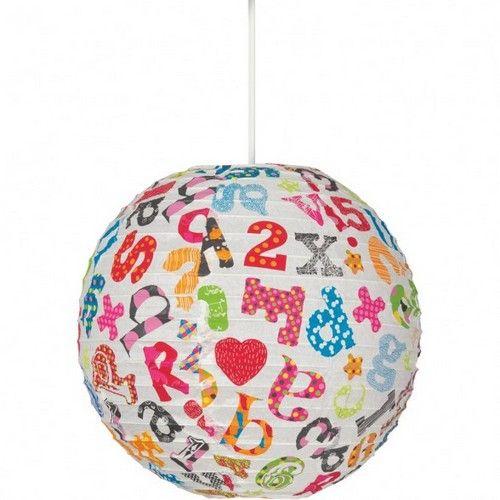 Світильник з буквами для дитячої кімнати