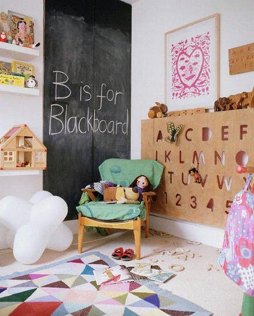 Букви і написи в інтерєрі дитячої кімнати