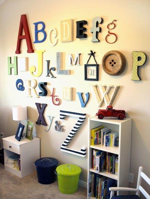 Декор стін - букви в інтерєрі
