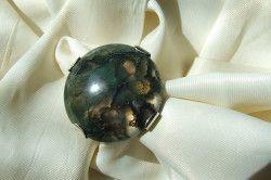 Срібний перстень з моховим агатом