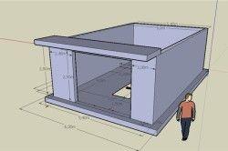 Проект гаража з керамзитобетонних блоків