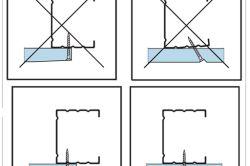 Схема однорівневого стелі з гіпсокартону