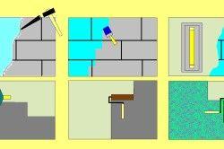 Схема штукатурення та фарбування цегляної стіни
