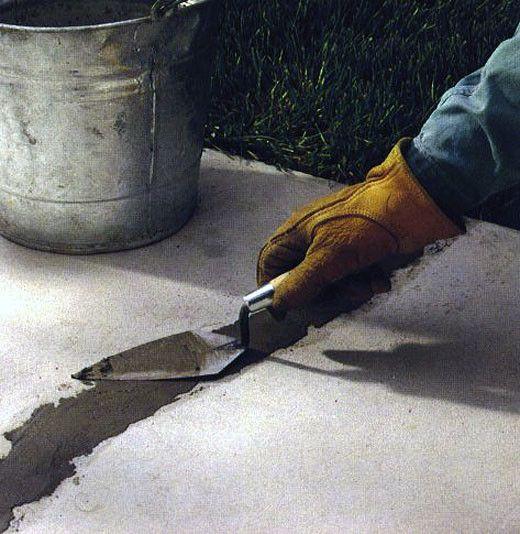 Чим закрити тріщини в бетоні.