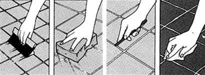 Чим затерти шви тротуарної плитки?
