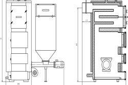Креслення-схема твердопаливного котла