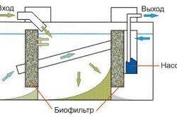 Схема очищення септика