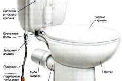 Схема пристрою унітазу
