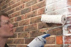 Фарбування цегляних стін