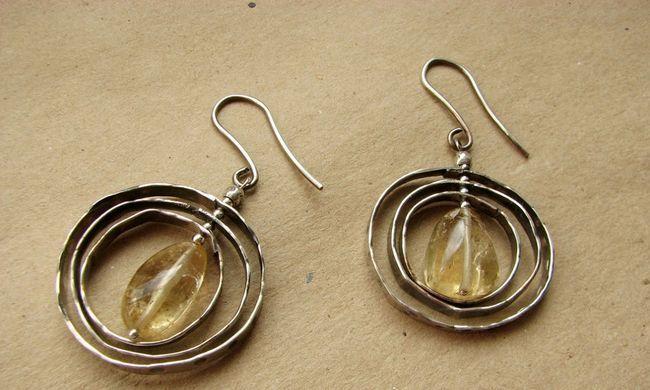 Фото - Що собою являють сережки з цитрином з срібла