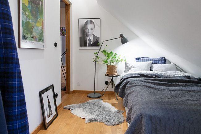 Спальня з непростою геометрією