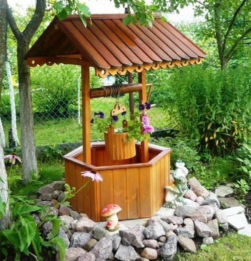 Фото - Декоративні колодязі в дизайні садової або дачної ділянки