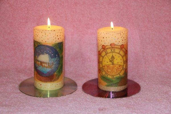 Фото - Декупаж новорічних свічок - майстер-клас
