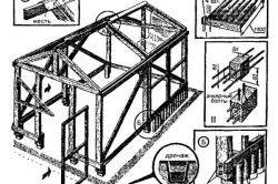 Схема пристрою простої деревяної теплиці