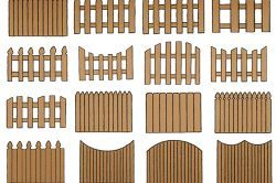 Декоративний деревяний паркан