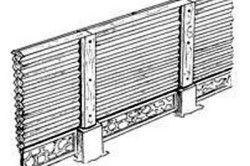 Декоративний деревяний паркан «Крос»