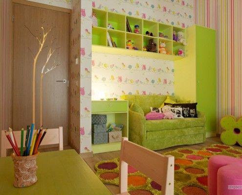 Зелена меблі в дитячій