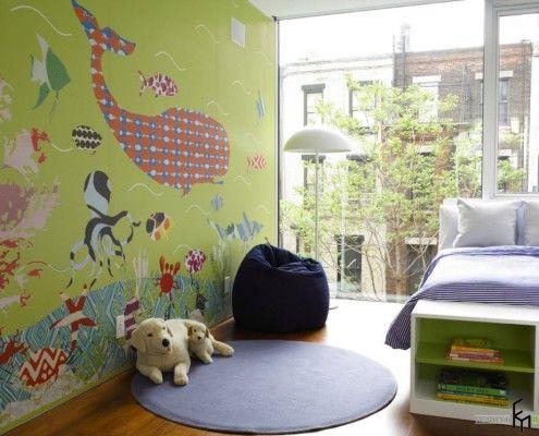 Панорамне вікно в дитячій кімнаті