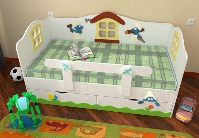 Фото - Дитячі ліжка з бортиками: надійний захист дитини під час сну