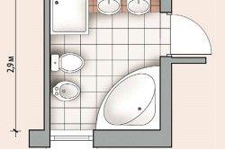Планування невеликої ванної кімнати