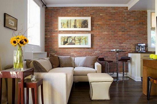 Фото - Дизайн інтер'єру приміщення з цегляною стіною