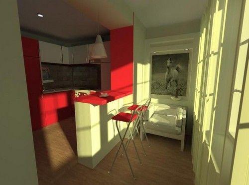 суміщення балкона з кухнею