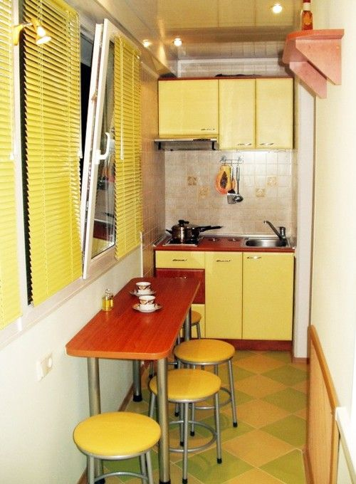 Перенесення кухні на балкон