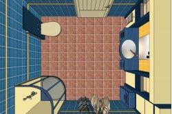 Планування ванної кімнати з душовою кабіною