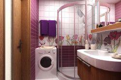Ванна кімната з пральною машинкою