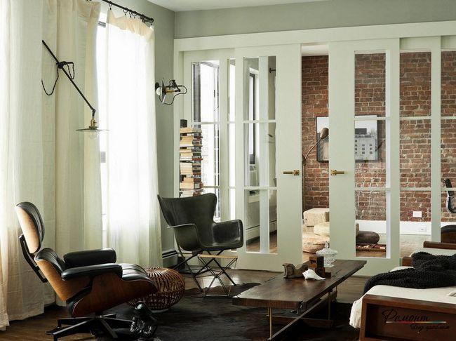 Фото - Темна підлога і світлі двері - гра відтінків в інтер'єрі