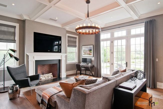 За допомогою майстерно виконаного дизайну стелі і стін, досягається візуальне збільшення простору