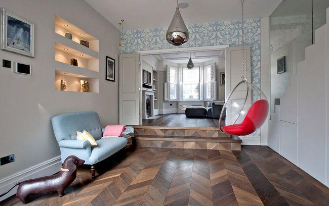 Фото - Сучасний інтер'єр двох'ярусної квартири в лондоні