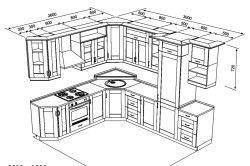 Схема типового проекту кухні