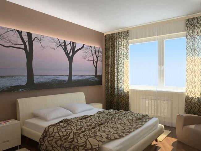Фото - Дизайн сучасної спальні в хрущовці