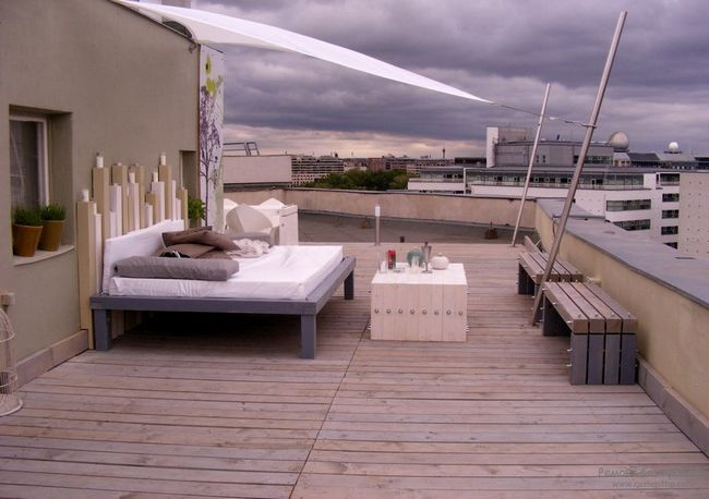 Спальна зона на терасі
