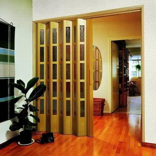 Двері-гармошка для прихожей фото
