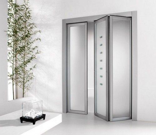 Скляні двері-гармошка фото