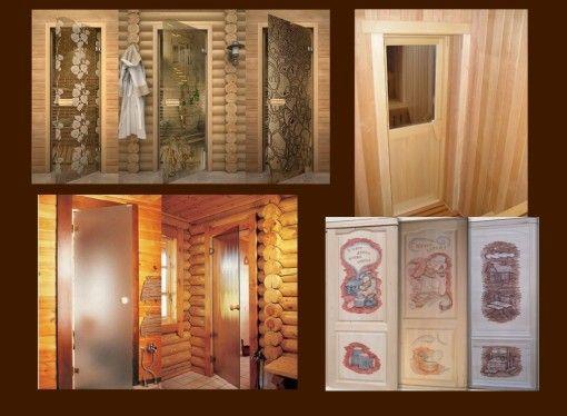 Фото - Двері в лазню - скляні і дерев'яні двері для парилки
