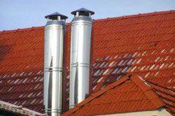 сталеві димоходи на даху