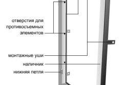 Схема дверної коробки під металеві вхідні двері