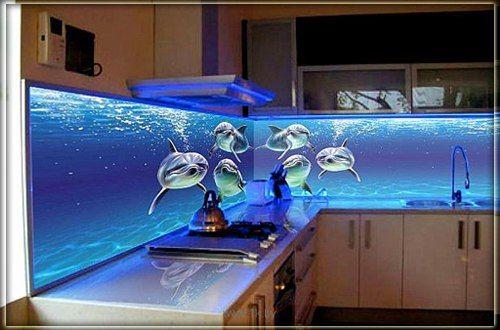 Фото - Фартух на кухні: варіанти установки
